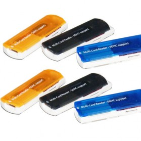 Multifunction Microware USB 2.0 Support MS / SD / Mini SD / Micro SD - Mix Color