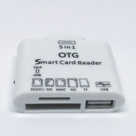5 in 1 Micro USB Card Reader for Android Smartphones & Tablets - White