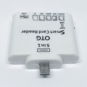 5 in 1 Micro USB Card Reader for Android Smartphones & Tablets - White - 2
