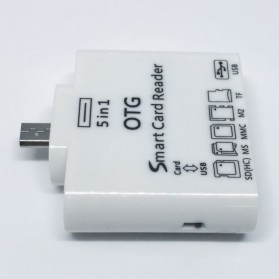 5 in 1 Micro USB Card Reader for Android Smartphones & Tablets - White - 3