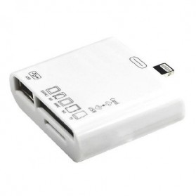 5 in 1 Lightning Card Reader for iPhone/iPad/iPod - White - 2
