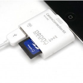 5 in 1 Lightning Card Reader for iPhone/iPad/iPod - White - 4