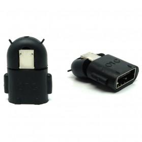 Micro USB OTG Bentuk Android - Black