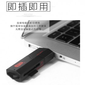 Chuanyu Card Reader USB 3.0 Micro SD / SD Card 5 Gbps - C307 - Black - 7