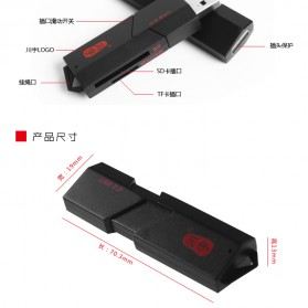 Chuanyu Card Reader USB 3.0 Micro SD / SD Card 5 Gbps - C307 - Black - 8