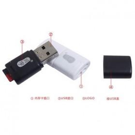 Kawau Mini USB Card Reader for Micro SD - C286 - Black - 5