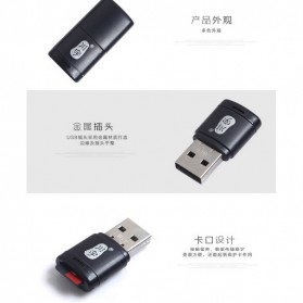 Kawau Mini USB Card Reader for Micro SD - C286 - Black - 7