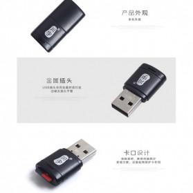 Mini USB Card Reader for Micro SD - Black - 7