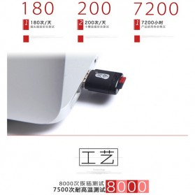 Mini USB Card Reader for Micro SD - Black - 8
