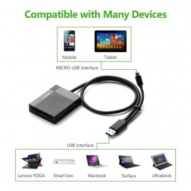 UGreen Card Reader Multifungsi USB 3.0 Dengan Micro USB OTG - Black - 6
