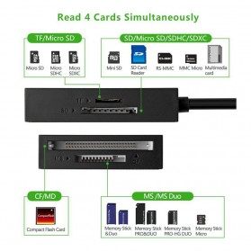 UGreen Card Reader Multifungsi USB 3.0 Dengan Micro USB OTG - Black - 9