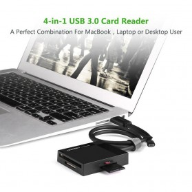 UGreen Card Reader Multifungsi USB 3.0 Dengan Micro USB OTG - Black - 10