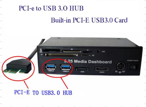 Media Dashboard 5.25 USB 3.0 Host + USB 2.0 Card Reader Internal Model : CH- ...