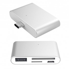 High Speed Multi Card Reader USB Type C 3.1 - Silver - 8