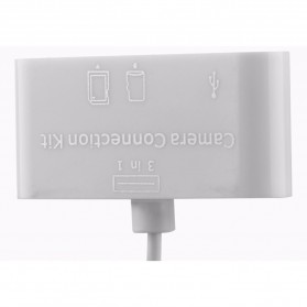 Memory Card Reader Lightning OTG 3 in 1 for iPhone iPad - MERBOK-001 - White - 3
