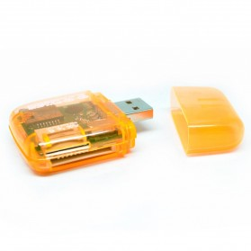 All in One Memory Card Reader CR-9165 - Orange - 2