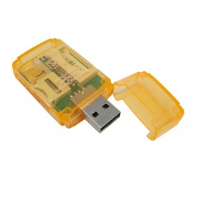 All in One Memory Card Reader CR-9165 - Orange - 4