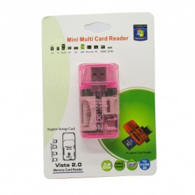 All in One Memory Card Reader CR-9165 - Pink - 3