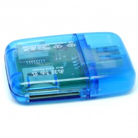 All in One Memory Card Reader CR-9165 - Blue - 2