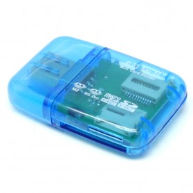 All in One Memory Card Reader CR-9165 - Blue - 3