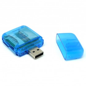 All in One Memory Card Reader CR-9165 - Blue - 4
