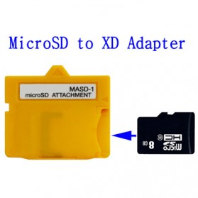 MicroSD (TF Card) Card to XD Card Adapter (MASD-1) - Yellow