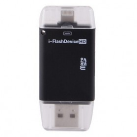 i-FlashDrive External Storage OTG Card Reader for Apple iPhone / iPad - Black
