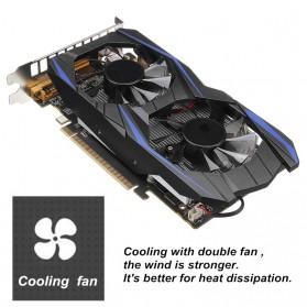 NVIDIA VGA Graphic Card GTX 750 Ti 2GB DDR5 128Bit with Dual Fan (Replika 1:1) - Black - 4