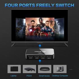 FSU HDMI Switcher 4 Port HDMI 2.0 4K HDR with Remote - SWI41-A - Black - 2