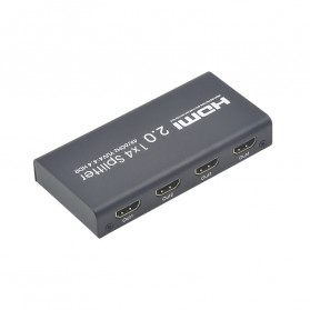 TXR HDMI Splitter 1 Input 4 Output 4K - AYS-12V20 - Black - 3