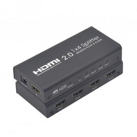 TXR HDMI Splitter 1 Input 4 Output 4K - AYS-12V20 - Black - 6