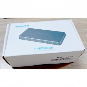 Unnlink 5 in 1 HDMI Switcher 2.0 4K 5 Port - UN0014 - Black - 7