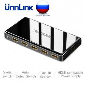 Unnlink 5 in 1 HDMI Switcher 2.0 4K 5 Port - UN0014 - Black