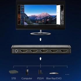 Unnlink 5 in 1 HDMI Switcher 2.0 4K 5 Port - UN0014 - Black - 3