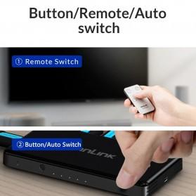 Unnlink 5 in 1 HDMI Switcher 2.0 4K 5 Port - UN0014 - Black - 4