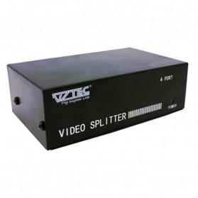 VZTEC VGA 1 X 4 Splitter w/ Audio Model (VZ-VG2234) - Black