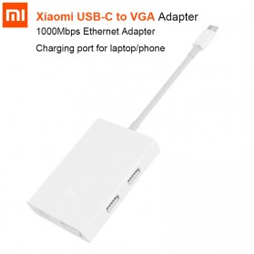 Xiaomi Konverter USB Type C to VGA & Ethernet - White