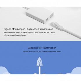 Xiaomi Konverter USB Type C to VGA & Ethernet - White - 3