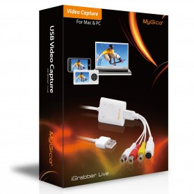 MyGica iGrabber Live USB Video Capture for Mac & PC - White - 7