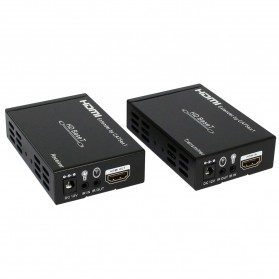 Saintholly HDBaseT Extender Over Cat5e/6 100m Support POE - ST-HDBT100B - Black