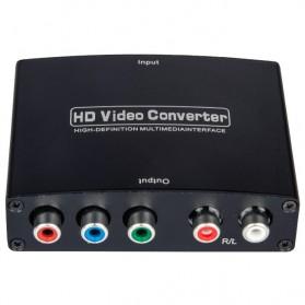 Saintholly HDMI to YPbPr+R/L Converter - ST-204B - Black