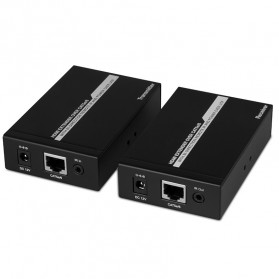 Saintholly HDMI Extender by Single Cat5e with Wide Band IR 50M DC 12V - ST-50G - Black
