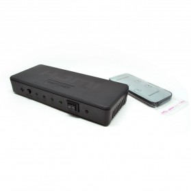 Saintholly HDMI Switcher 4x1 with Picture-in-Picture (PiP) Function - Black