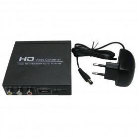 Saintholly HDMI to HDMI / AV / CVBS Auto Scaler Video Converter - Black