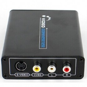 Saintholly HDMI to Composite / S-Video Converter with L/R Stereo Audio output - Black