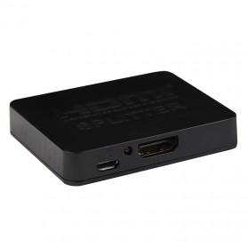 Saintholly Mini HDMI Splitter 1 x 2 - Black