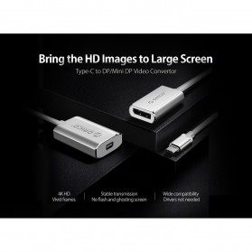 Orico Kabel Adapter Converter USB Type C to DP 4K 15cm - XC-103 - Silver - 6