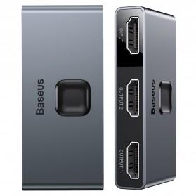 Baseus HDMI Switcher Splitter Bi-Direction 2 in 1 Out 4K - CAHUB-BC0G - Black
