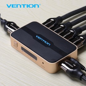 Vention HDMI Switcher 5 Port Full HD 4K with Remote Control - Golden