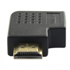 L Shape HDMI Converter Male to Female - Black - 2